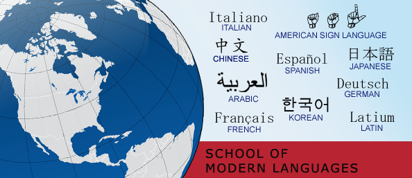 Image for school of modern languages with all provided languages
